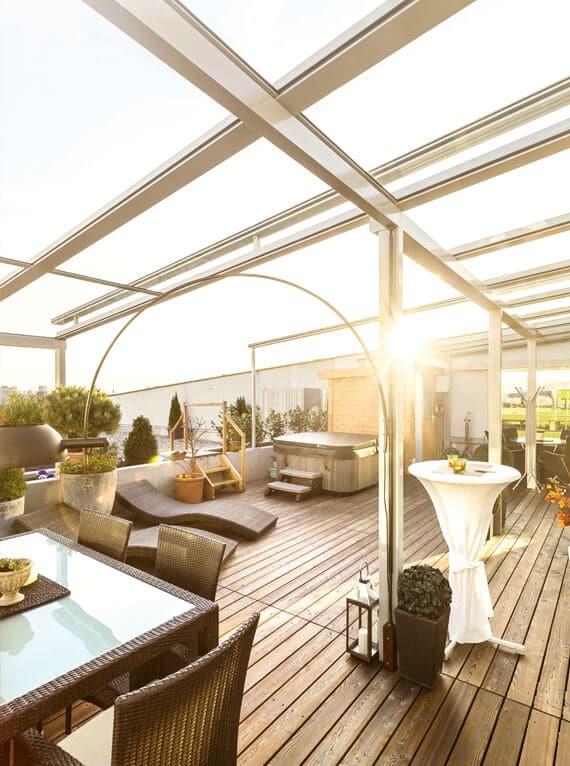 Sonne Terrassenüberdachung Licht