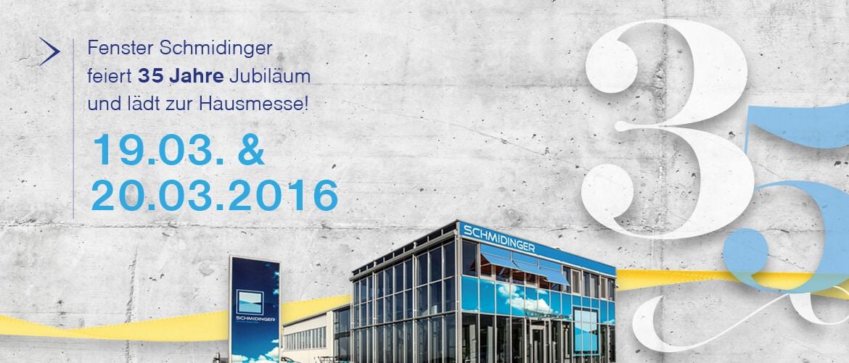 Jubiliäum Fenster-Schmidinger 35 Jahre