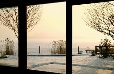 Blick aus dem Fenster - Winterlandschaft