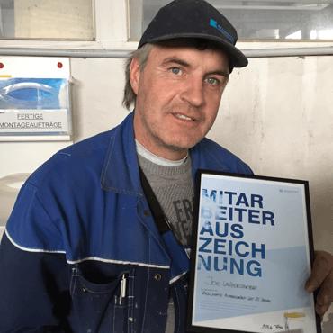 25 Jahre im Einsatz für Fenster-Schmidinger