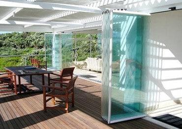 Schiebe-Dreh-Systeme Glas