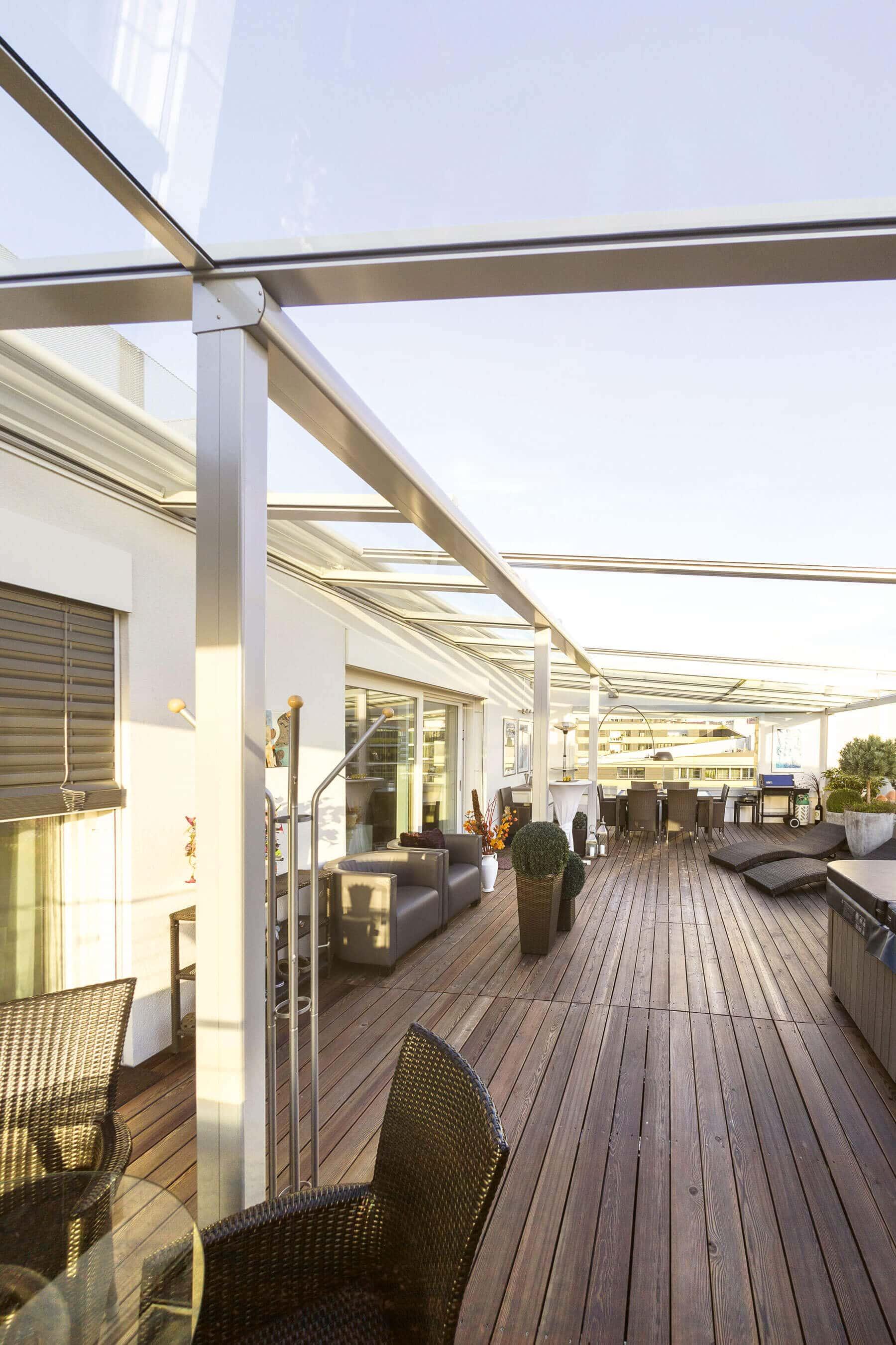 Dachglas für Dachterrasse