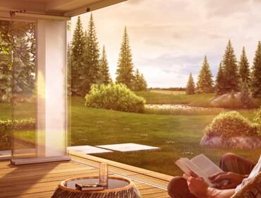 Sunflex SF25 Innenaufnahme - Terrassenverglasung