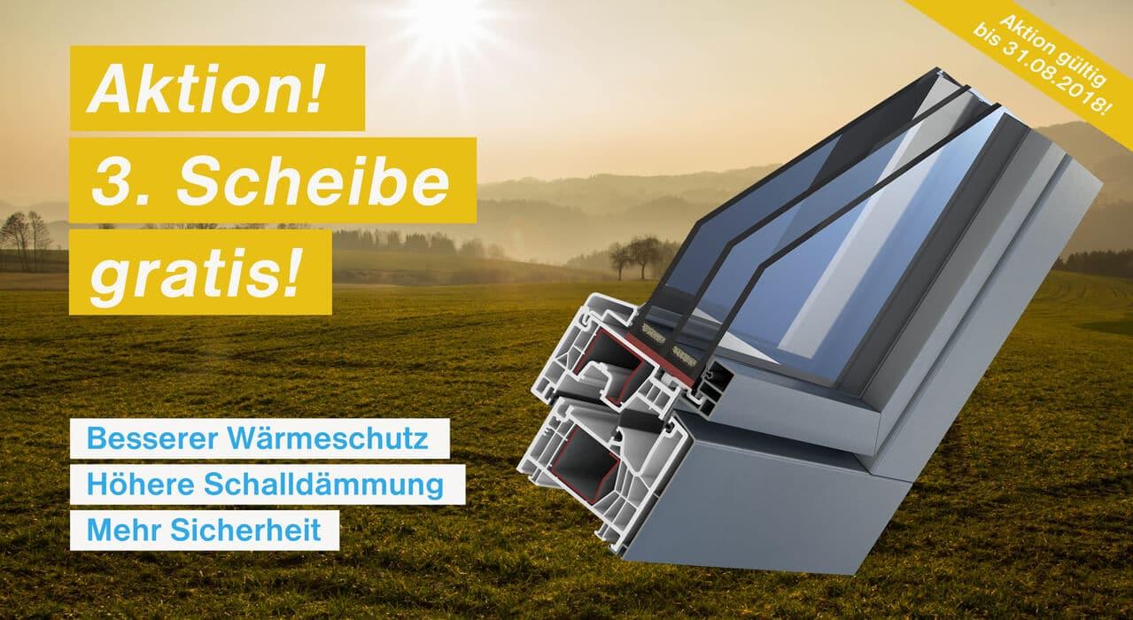 Aktion Fenster - 3. Scheibe gratis!