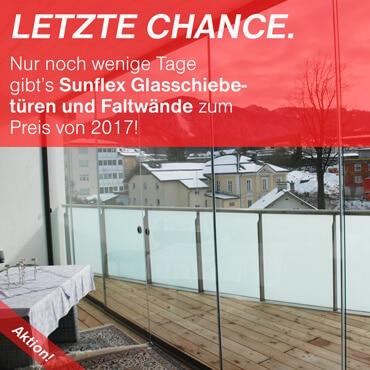 Aktion Sunflex Schiebetüren & Faltwände