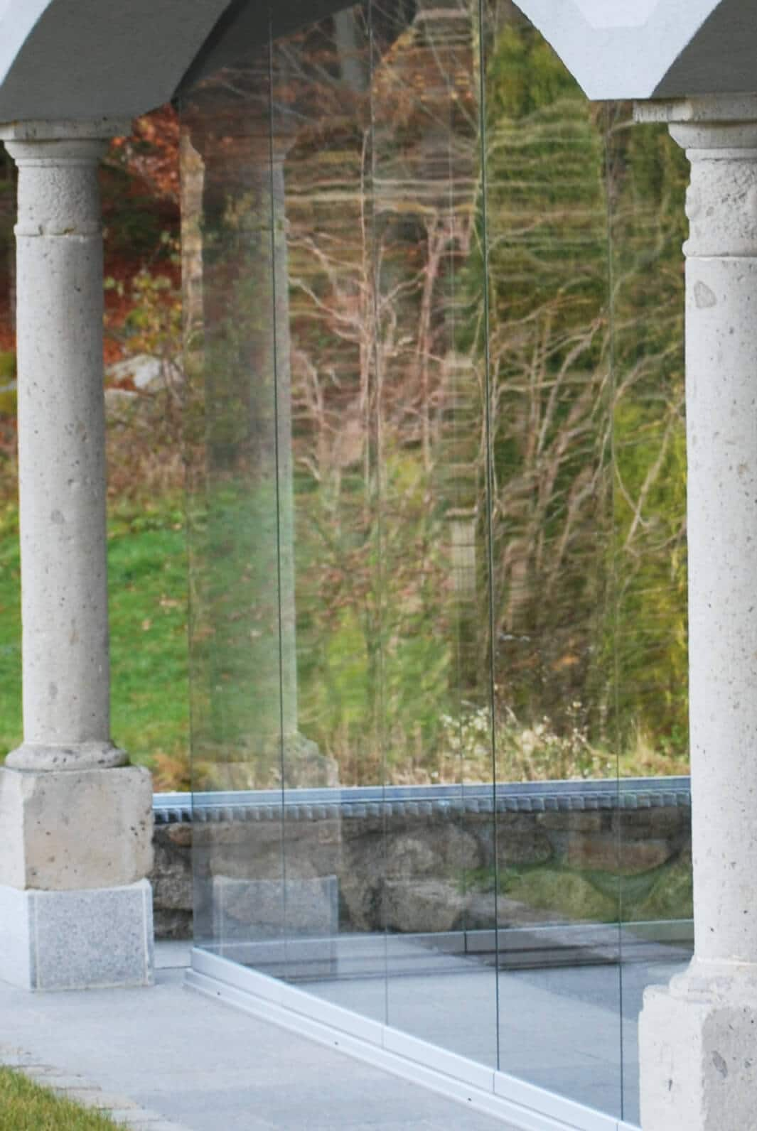 Alternative zu Glas-Faltwand