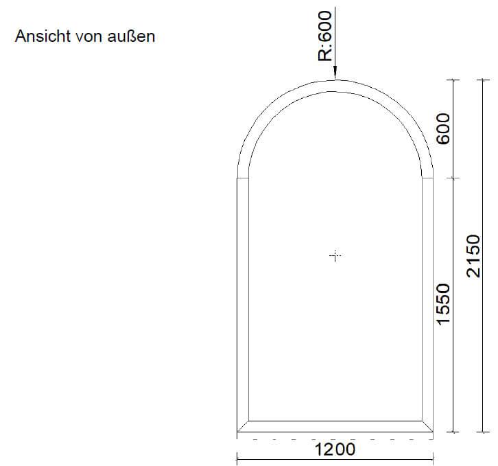 Alu Fenster Rundbogen