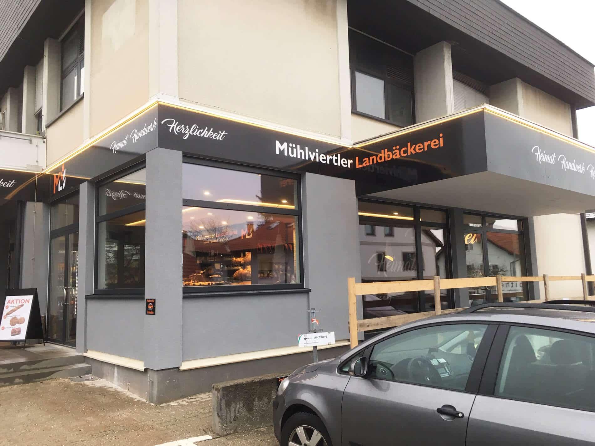 Alu-Fenster und Türen für Bäckerei