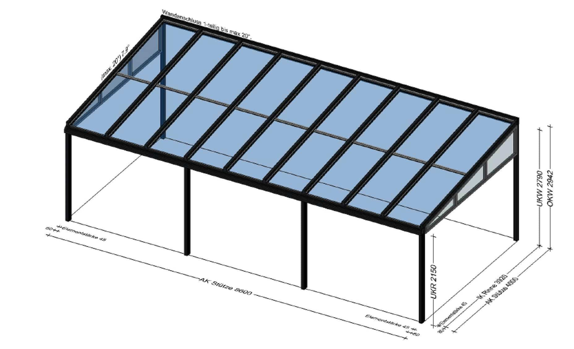 Alu Konstruktion Terrassendach