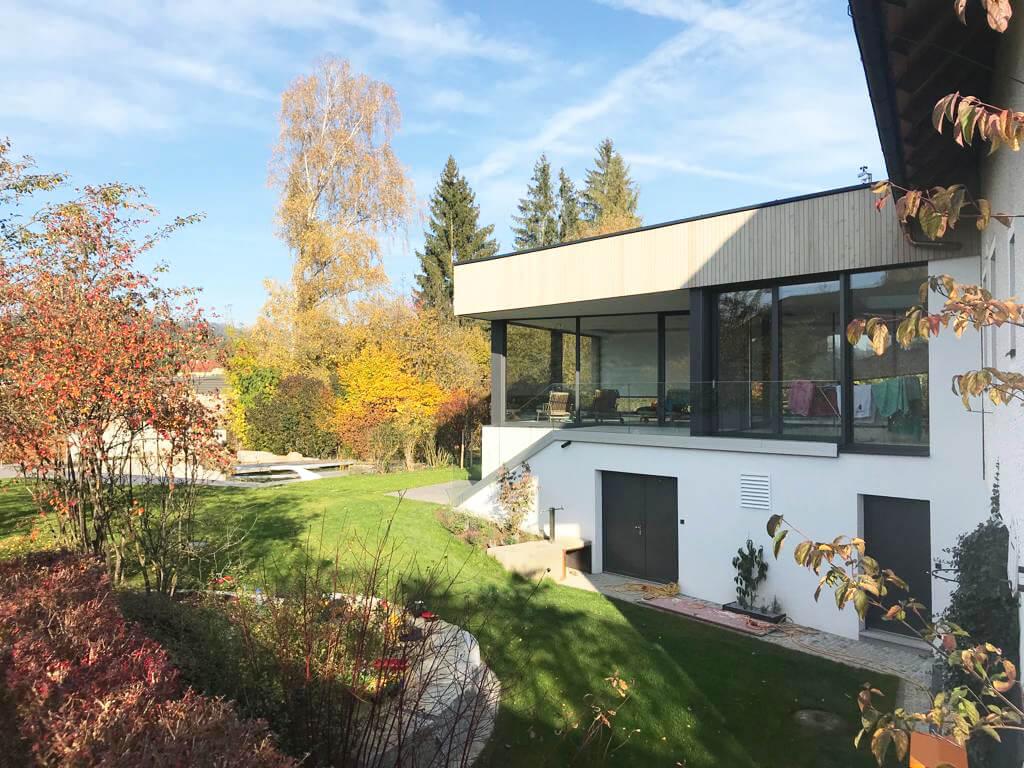 Aluminium Fenster für Poolhaus