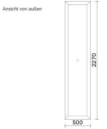 Aluminium-Festverglasung Skizze