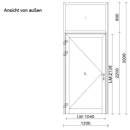 Aluminium-Türe für Innenbereich mit Oberlichte