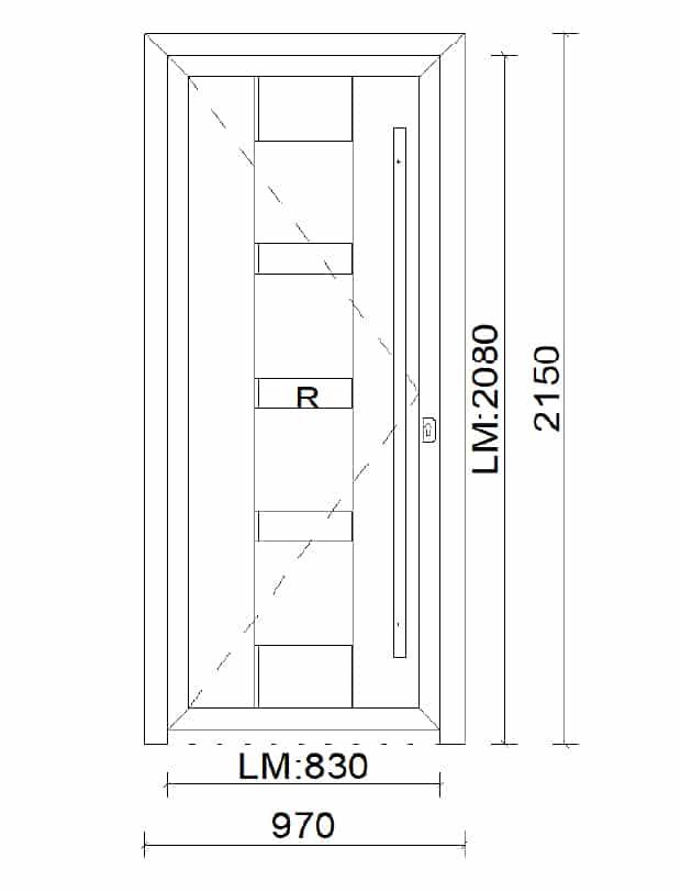 Aluminiumtüren mit Füllung