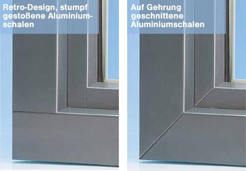 Ausführung Gehrung Aluminiumschale Fenster