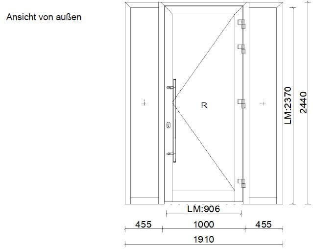 Außentüren Aluminium