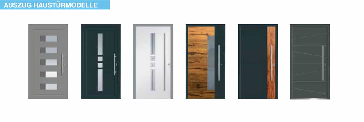 Auszug Haustürmodelle - Haustürenkauf
