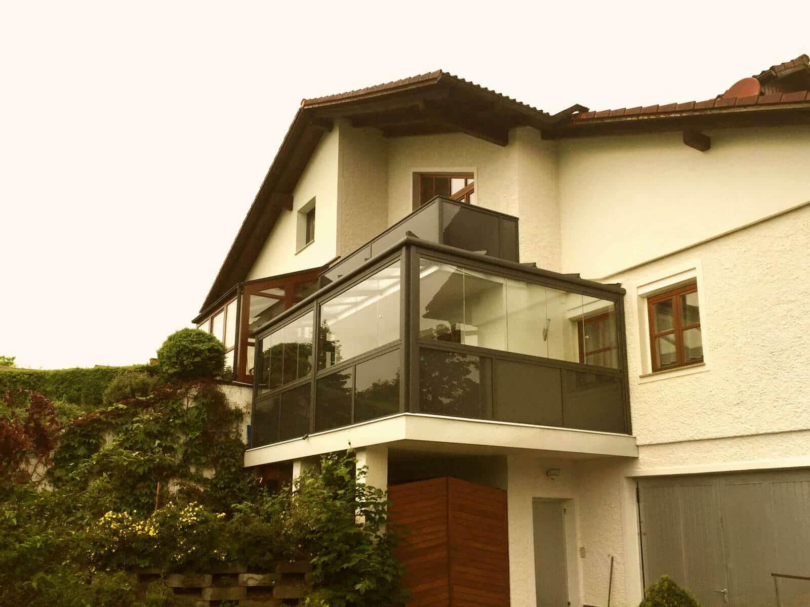 Balkon Glas