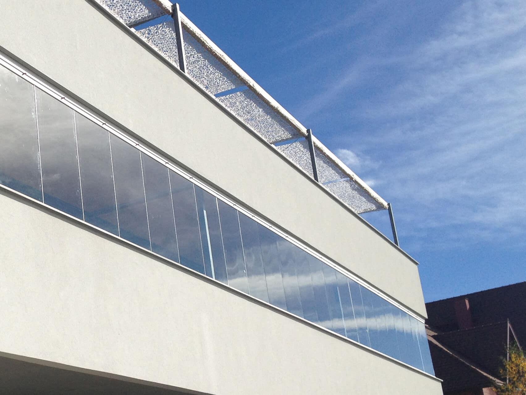 Balkon Glasschiebetüren Schiebesystem