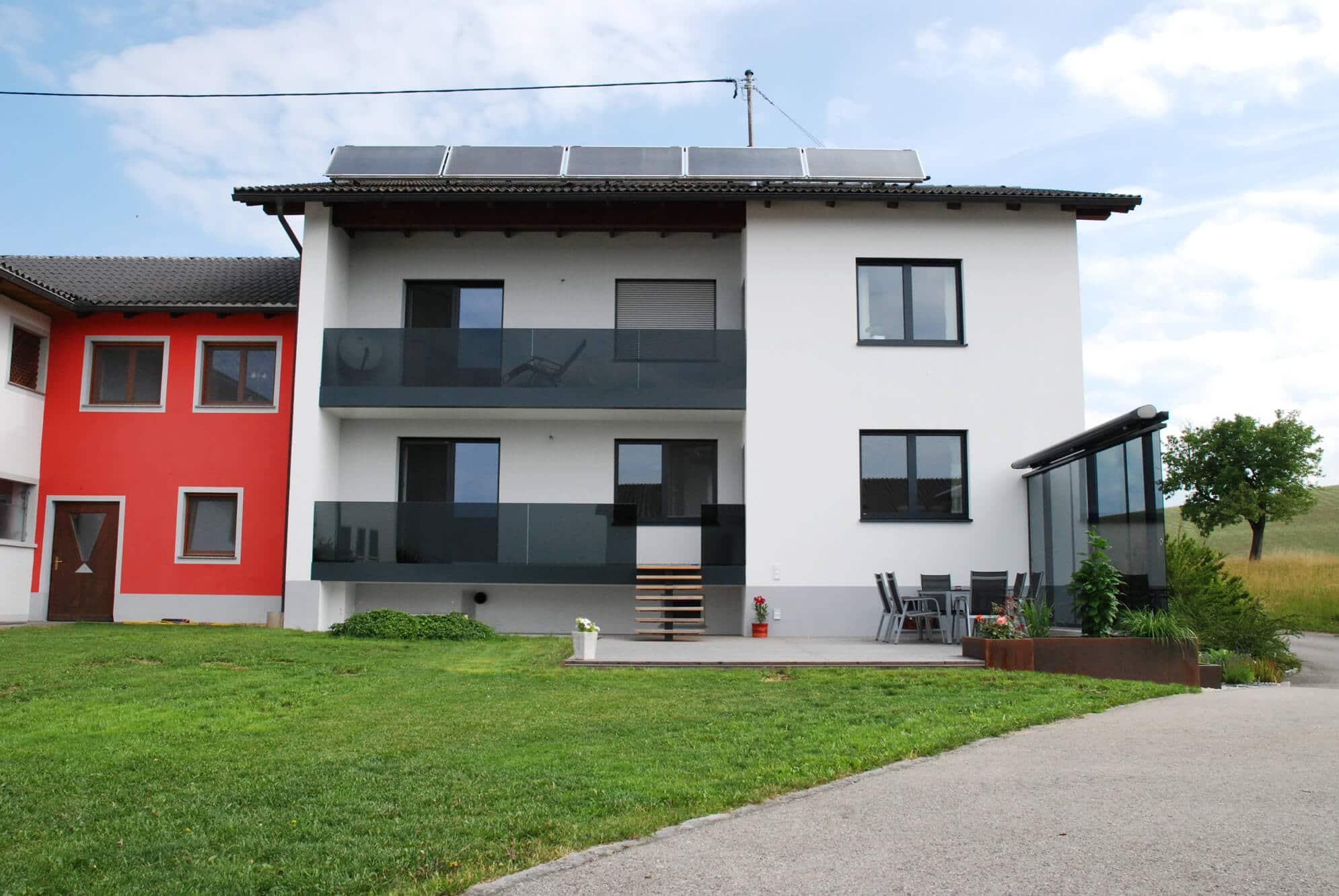 Balkonglas und Windschutz für Terrasse