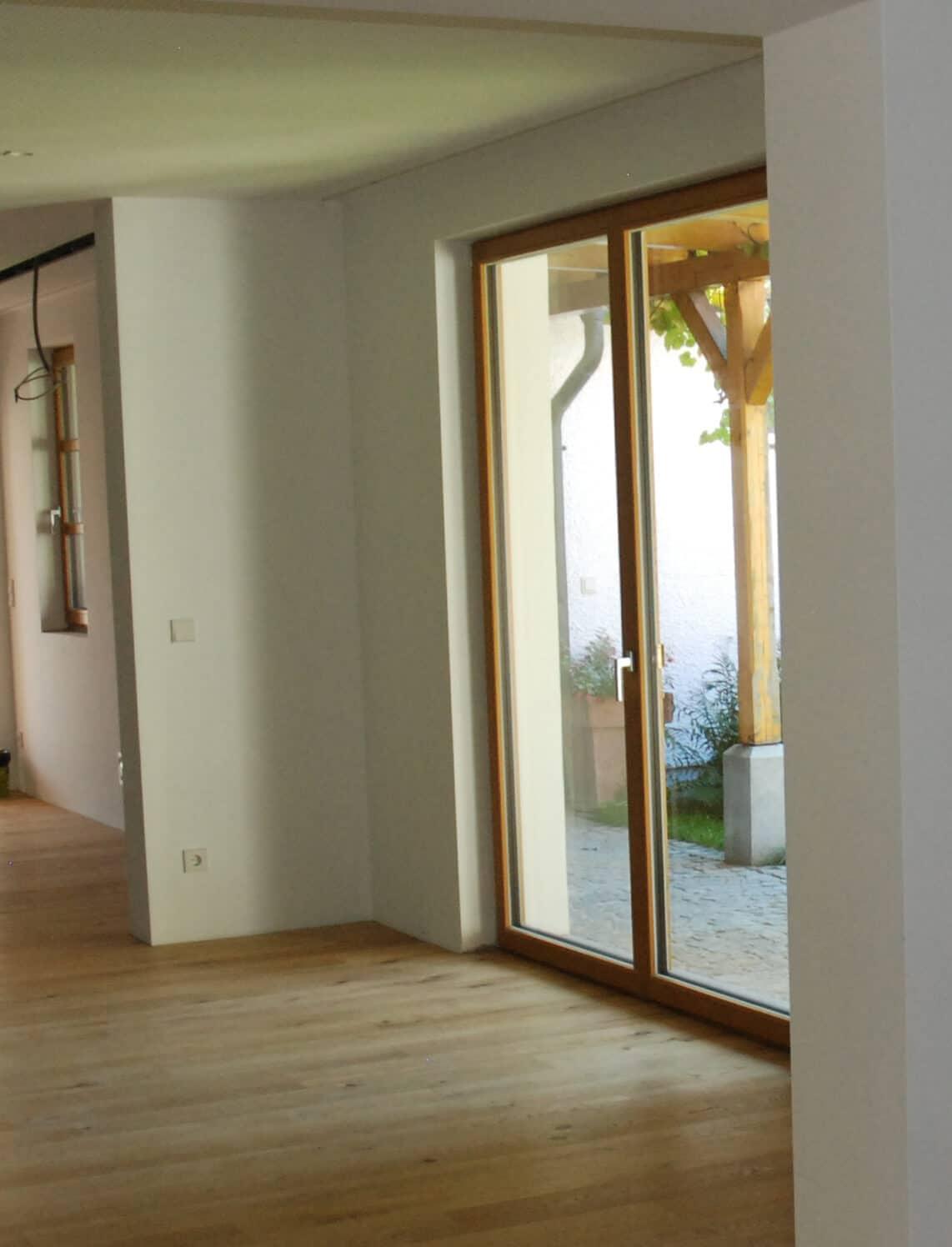 Balkontüre 2-flügelig aus Holz