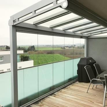 Balkonüberdachung Alu