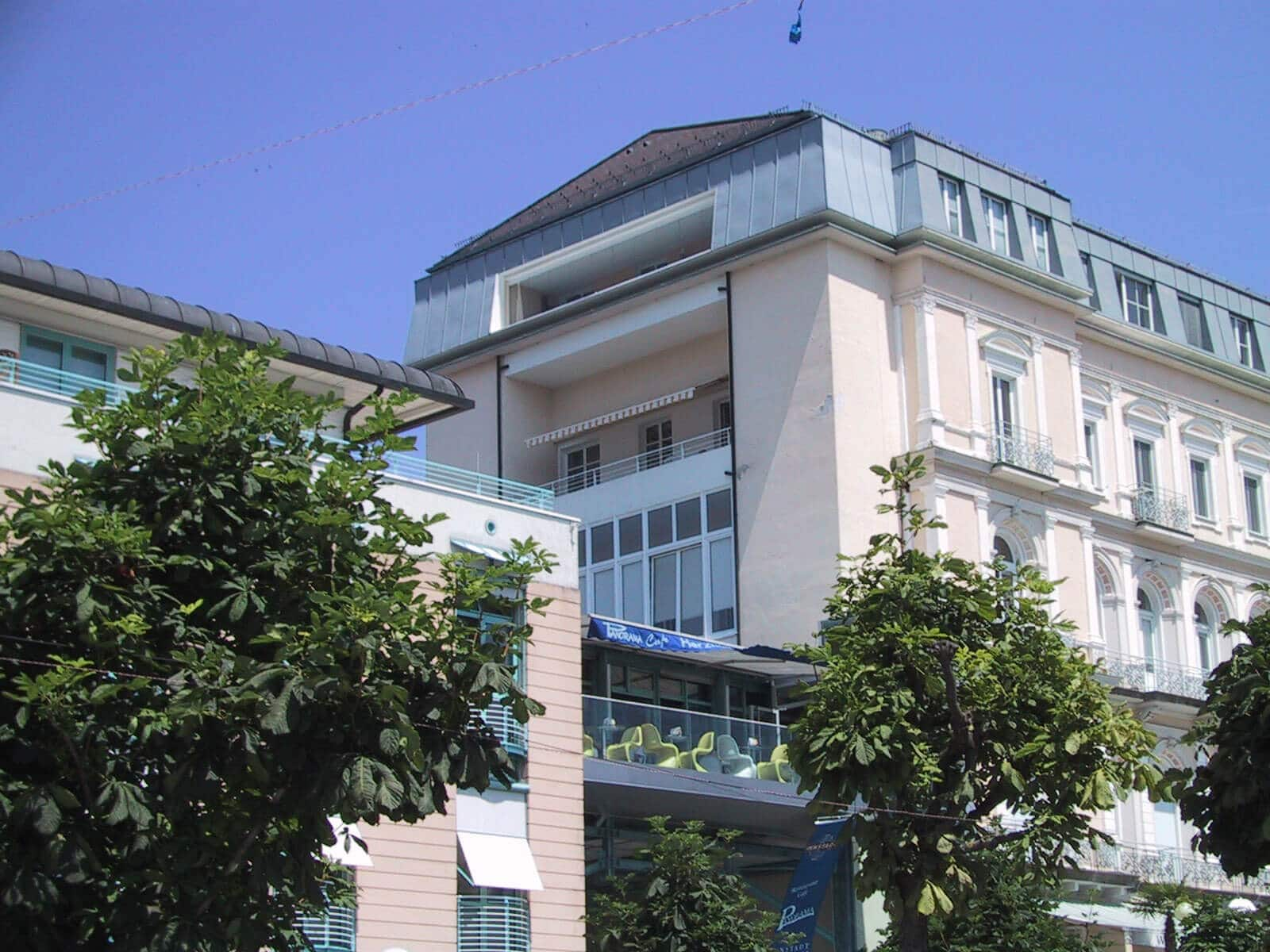 Balkonverbau Kunststoff weiß