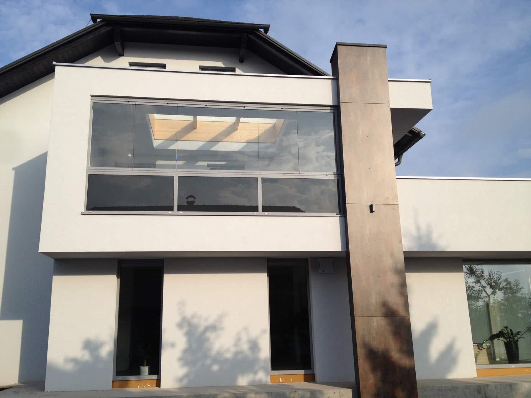 Balkonverbau zum Falten mit Sunflex SF 25 System