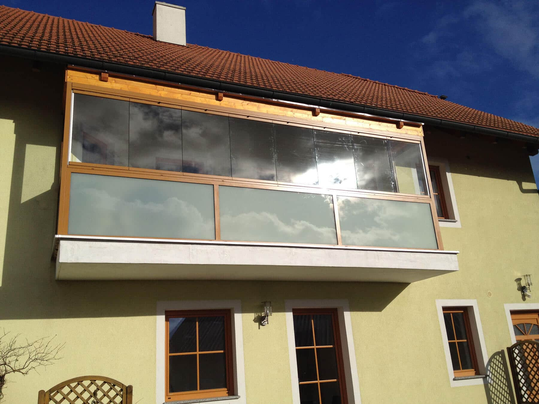 Balkonverglasung faltbar