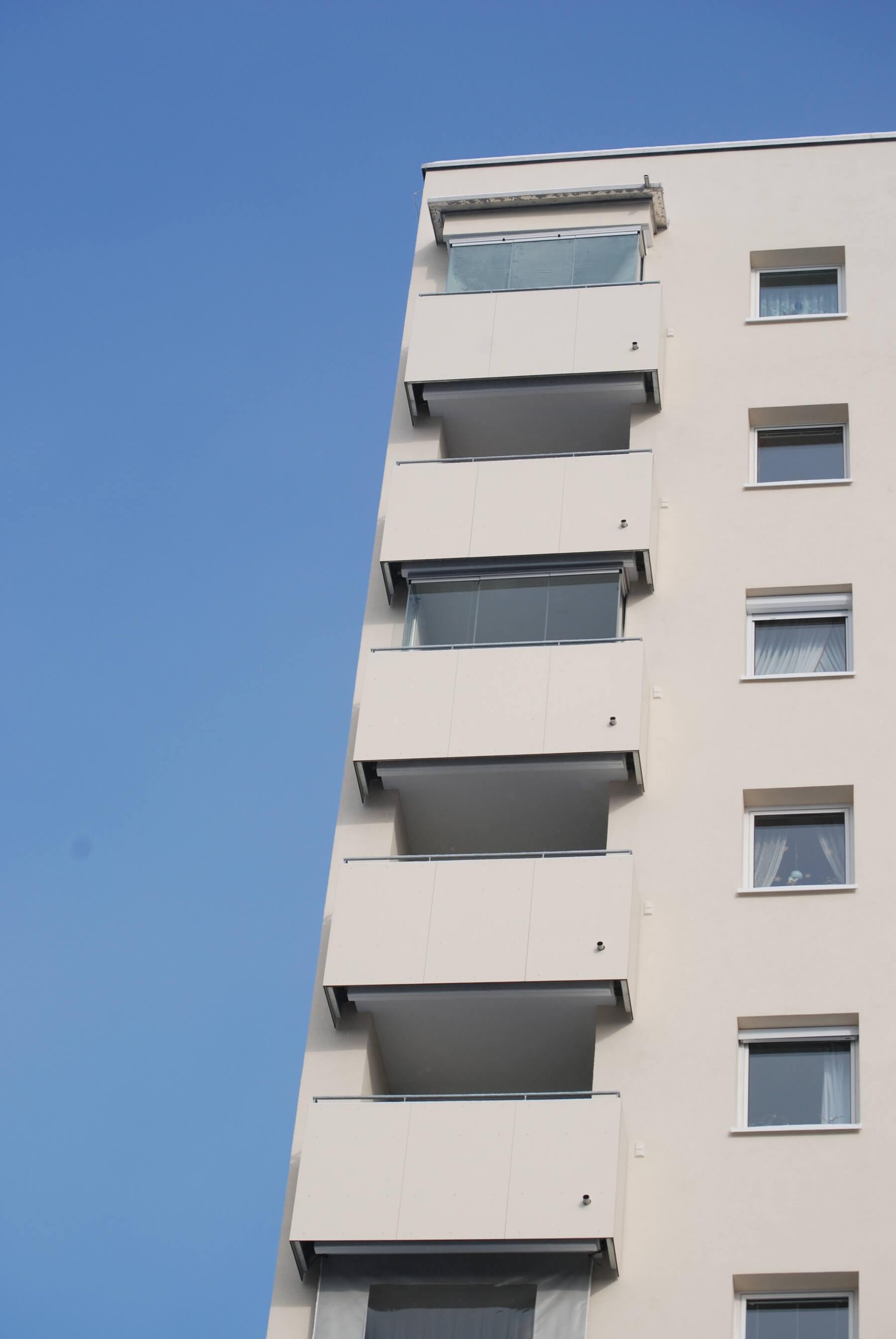 Balkonverglasung für Eigentumswohnung