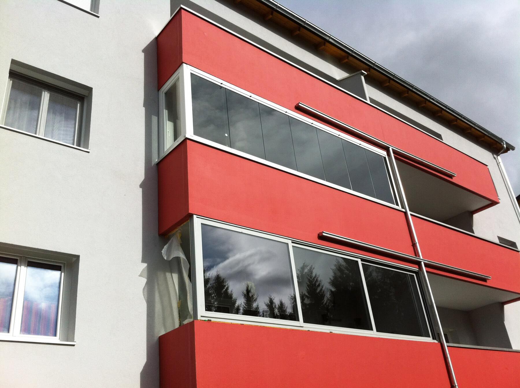 Balkonverglasung Schiebesystem