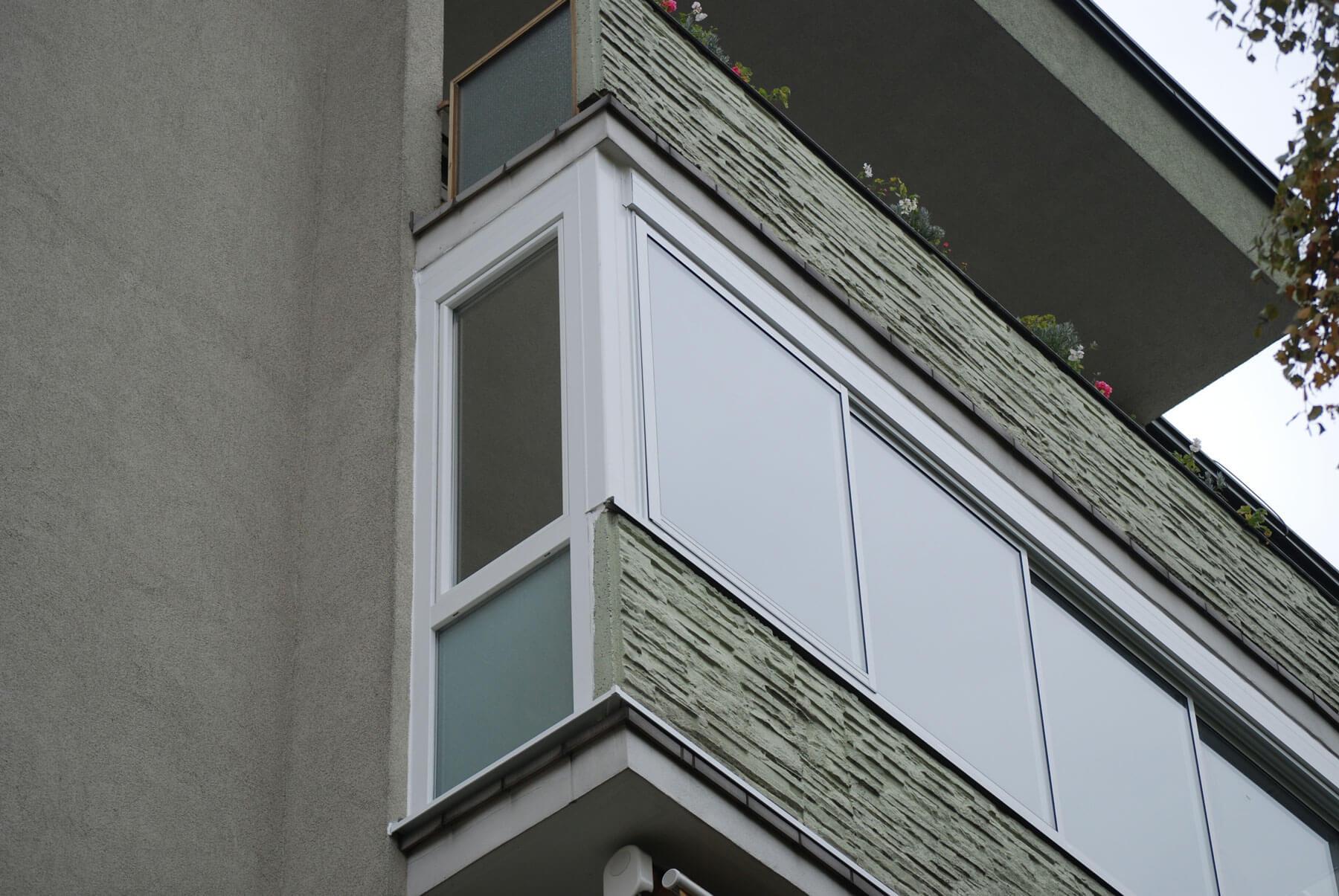 Balkonverglasung Seitenteil