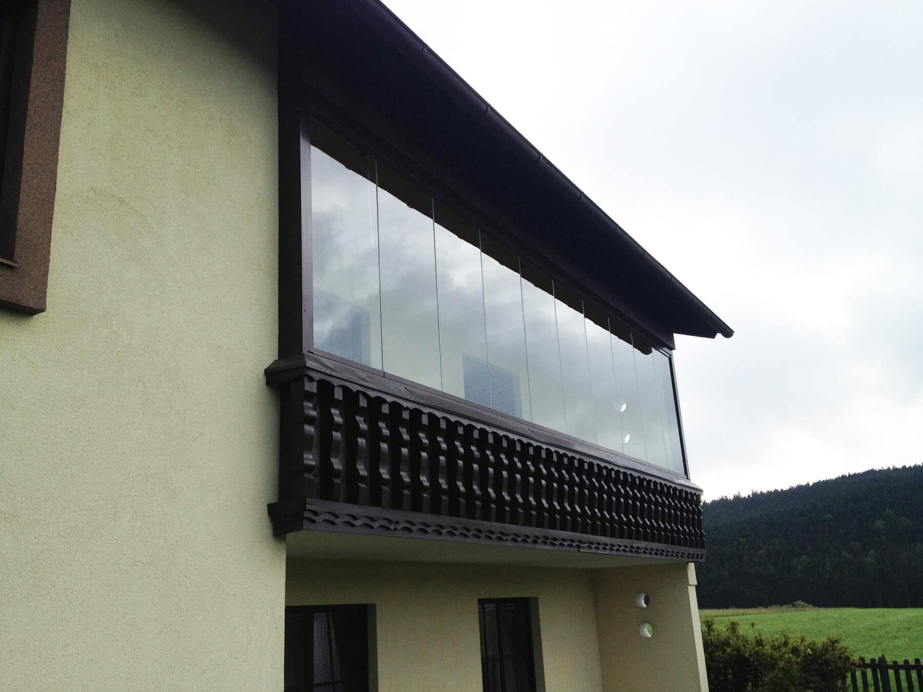 Balkonverglasung zum Falten
