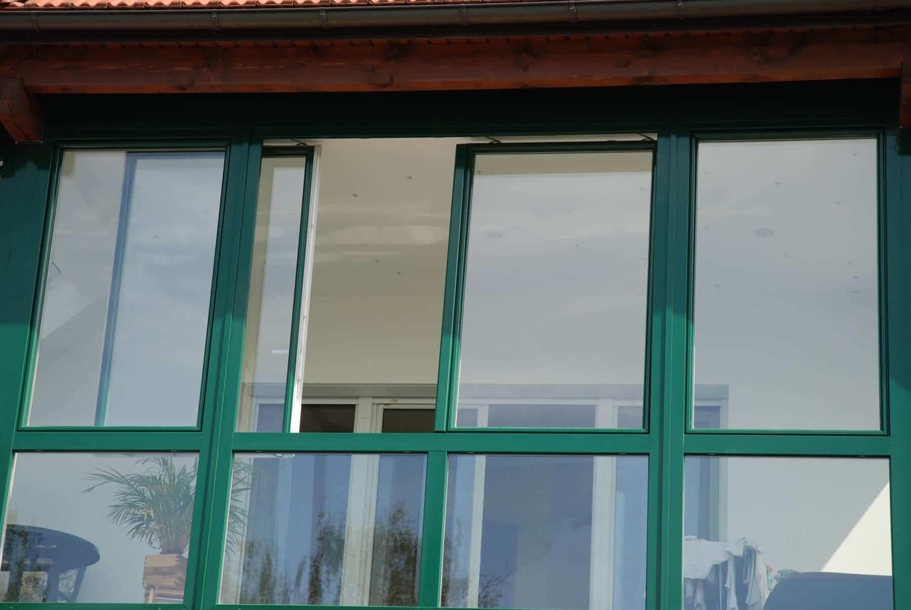 Balkonverglasung zum Schieben