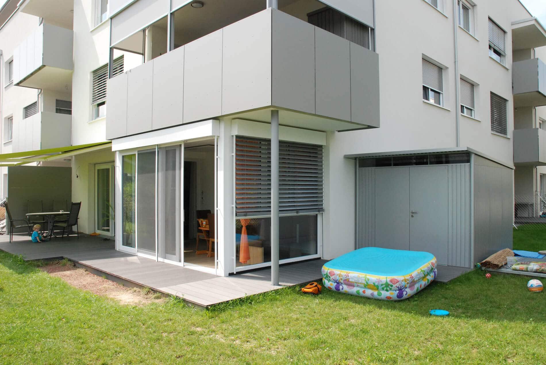 Balkonverkleidung Terrassenverkleidung - Kunststoff weiß