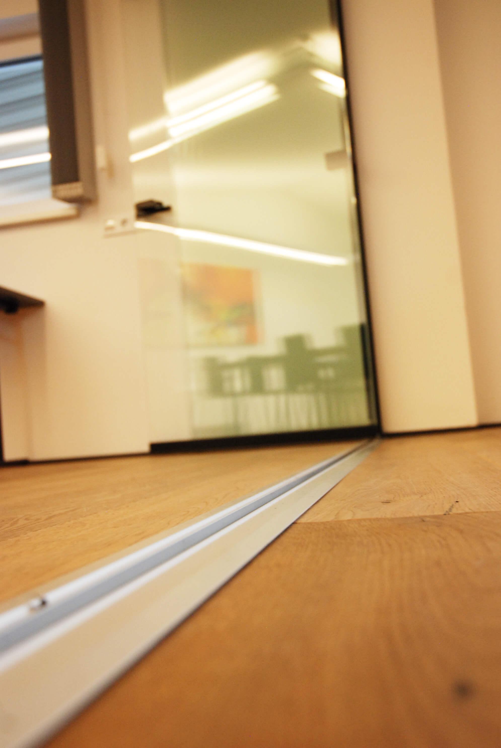 Barrierefreie Schwelle Glas-Faltsystem von Sunflex