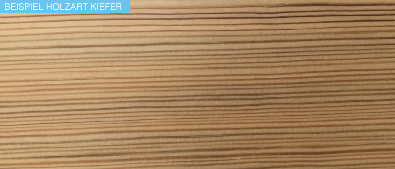 Beispiel Holzart Kiefer bei Fenster