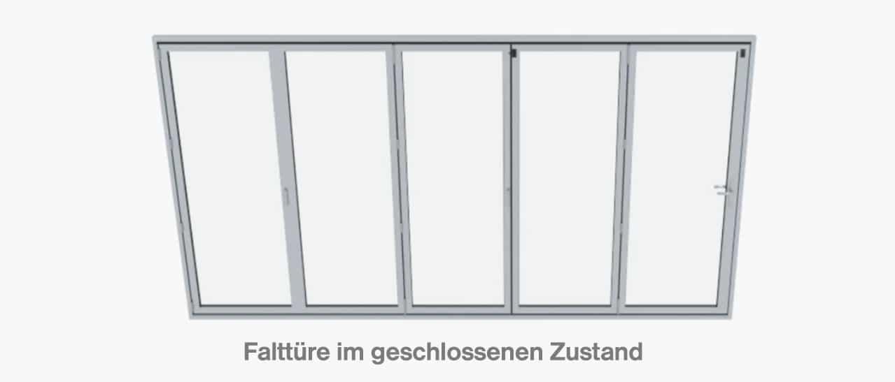 Beispiele Falttüre im geschlossenen Zustand