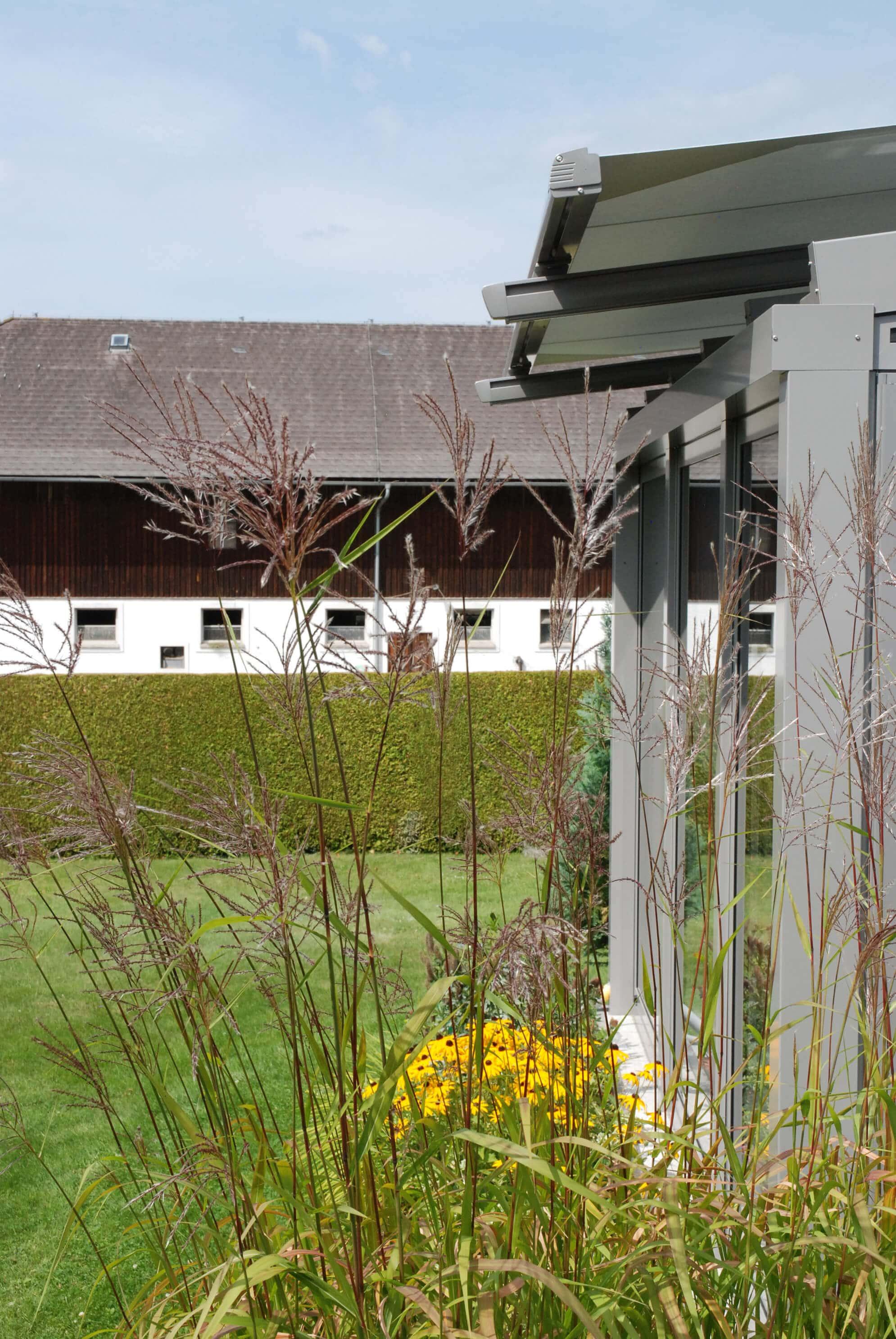 Beschattung Wintergarten außen