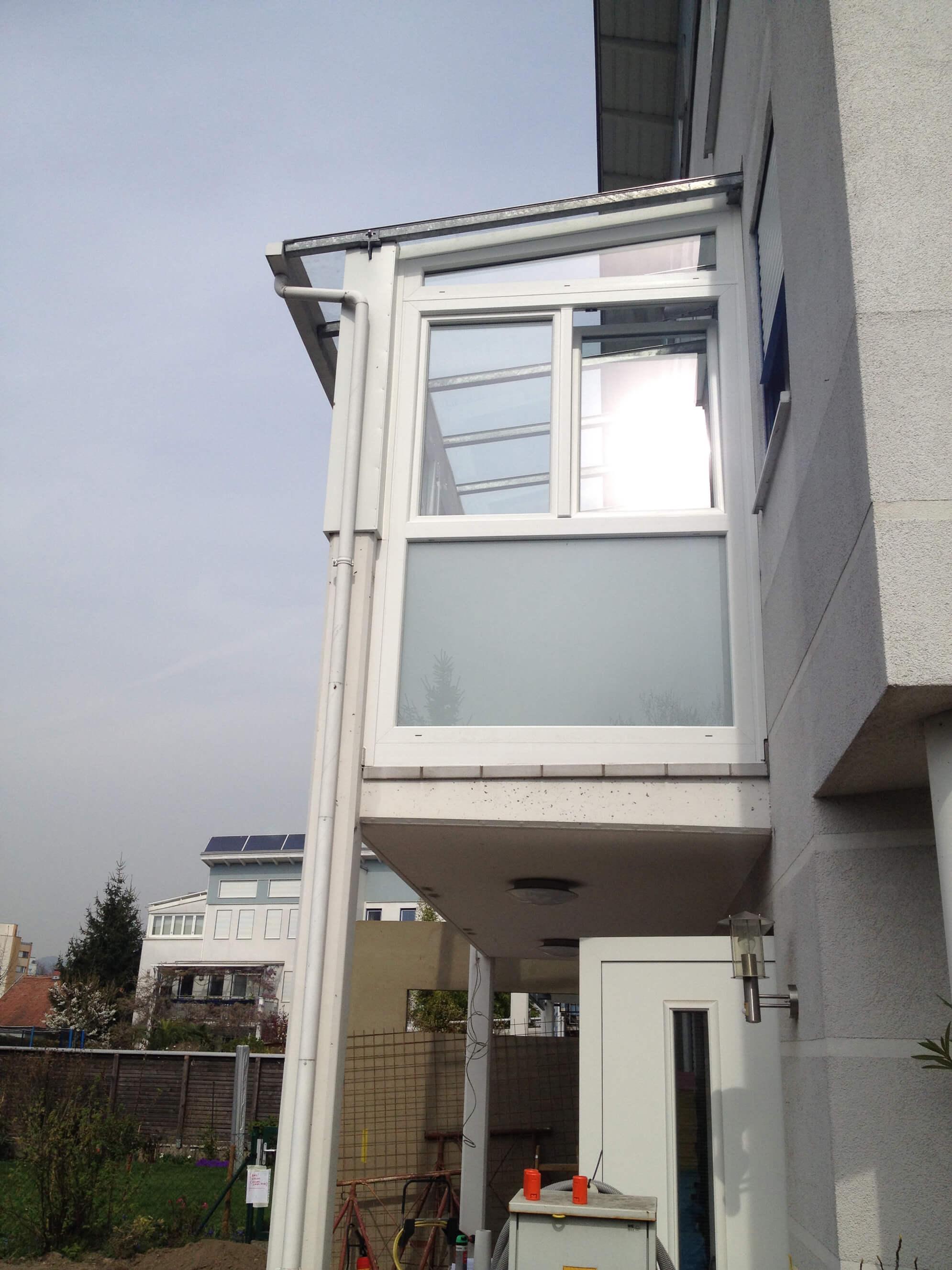 Bestehende Terrassenüberdachung verglasen
