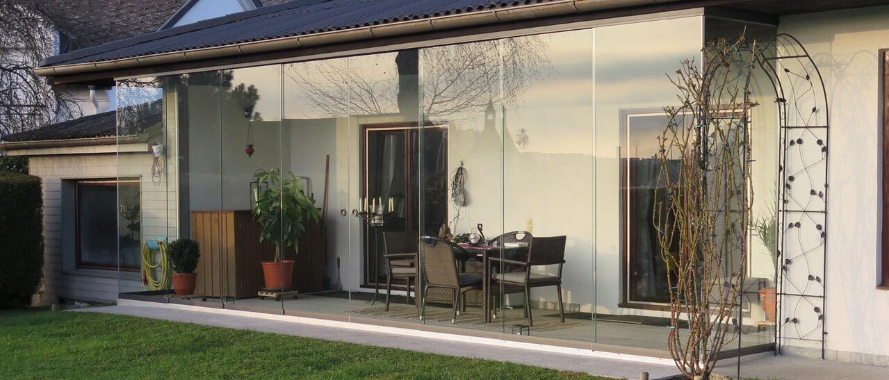 Sunflex flexible Glaswände