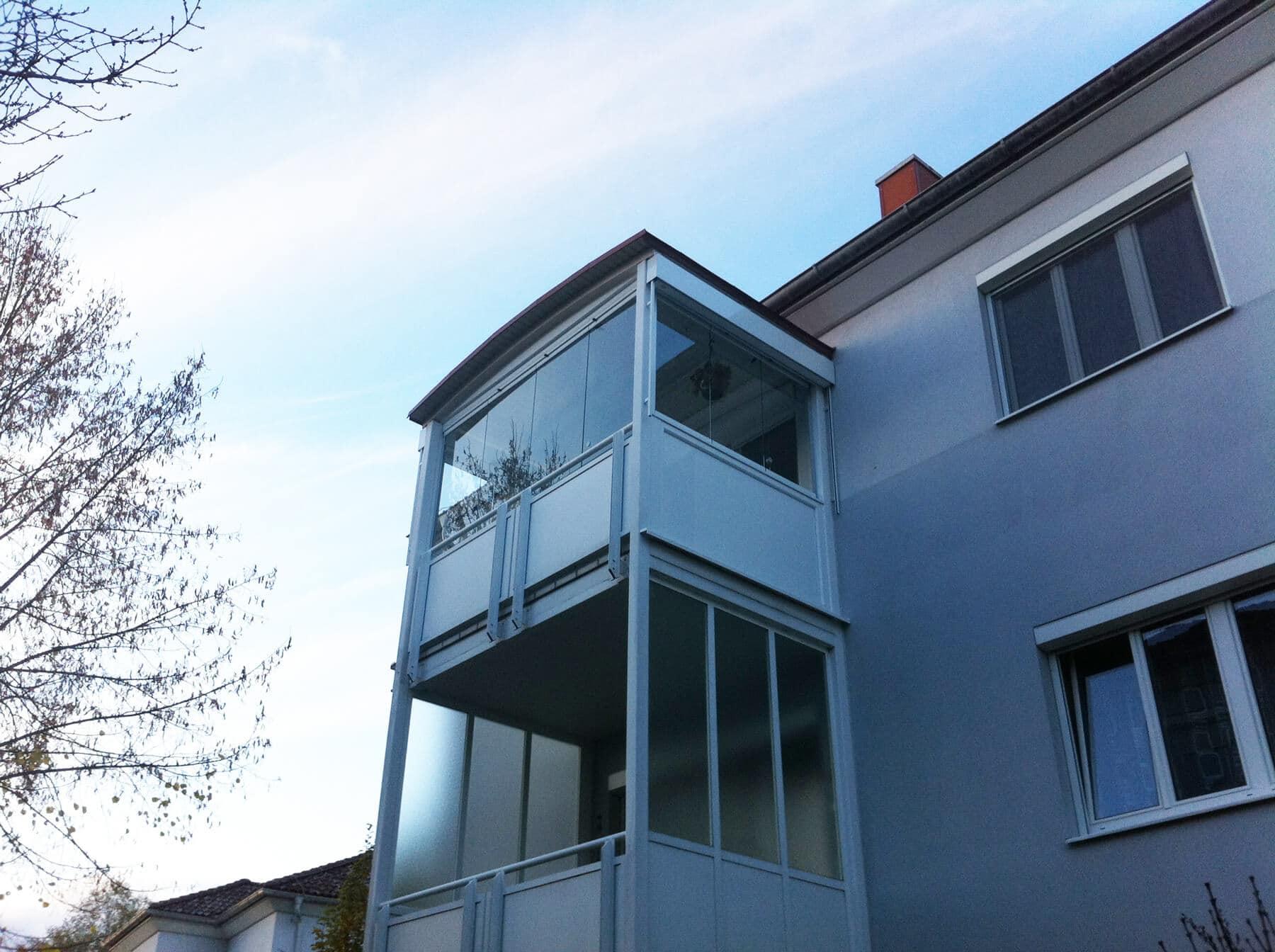 Bilder zu Balkonverglasung