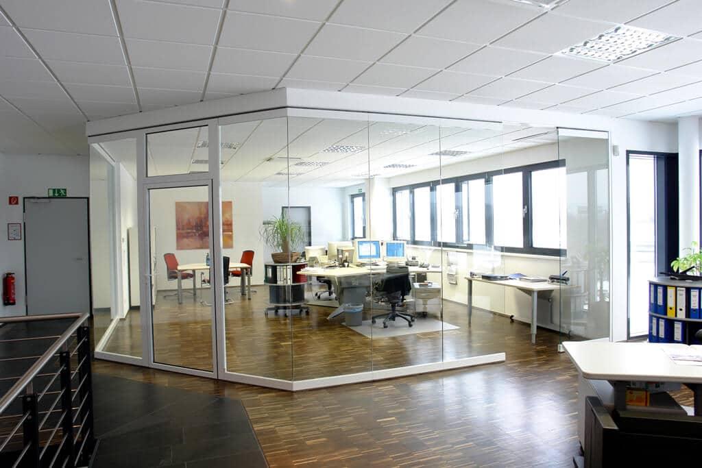 Büro Trennwandsystem Schiebe-Drehen