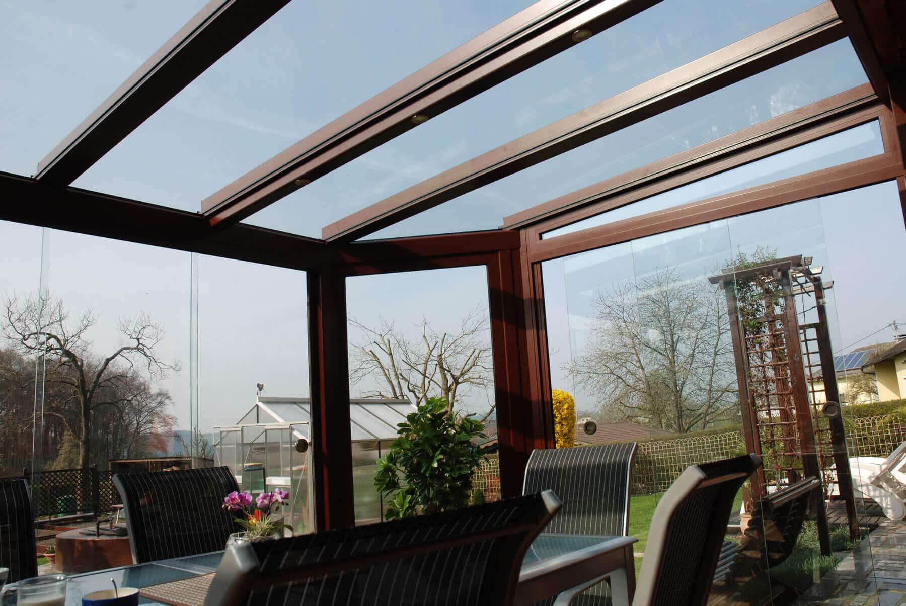 Dachglas für Sommergarten