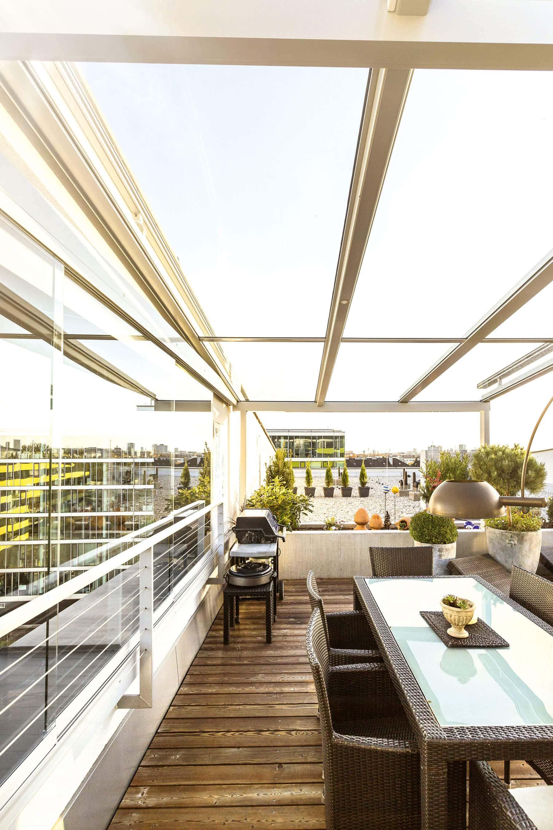Dachterrasse mit Überdachung