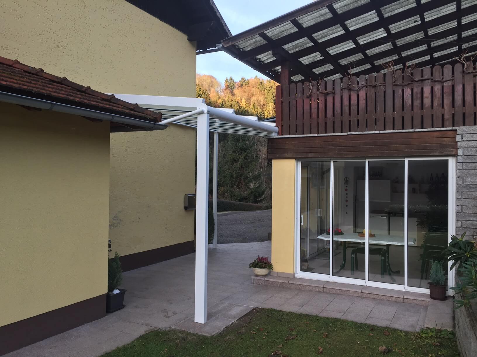 Dachverglasung Aluminium RAL 9016