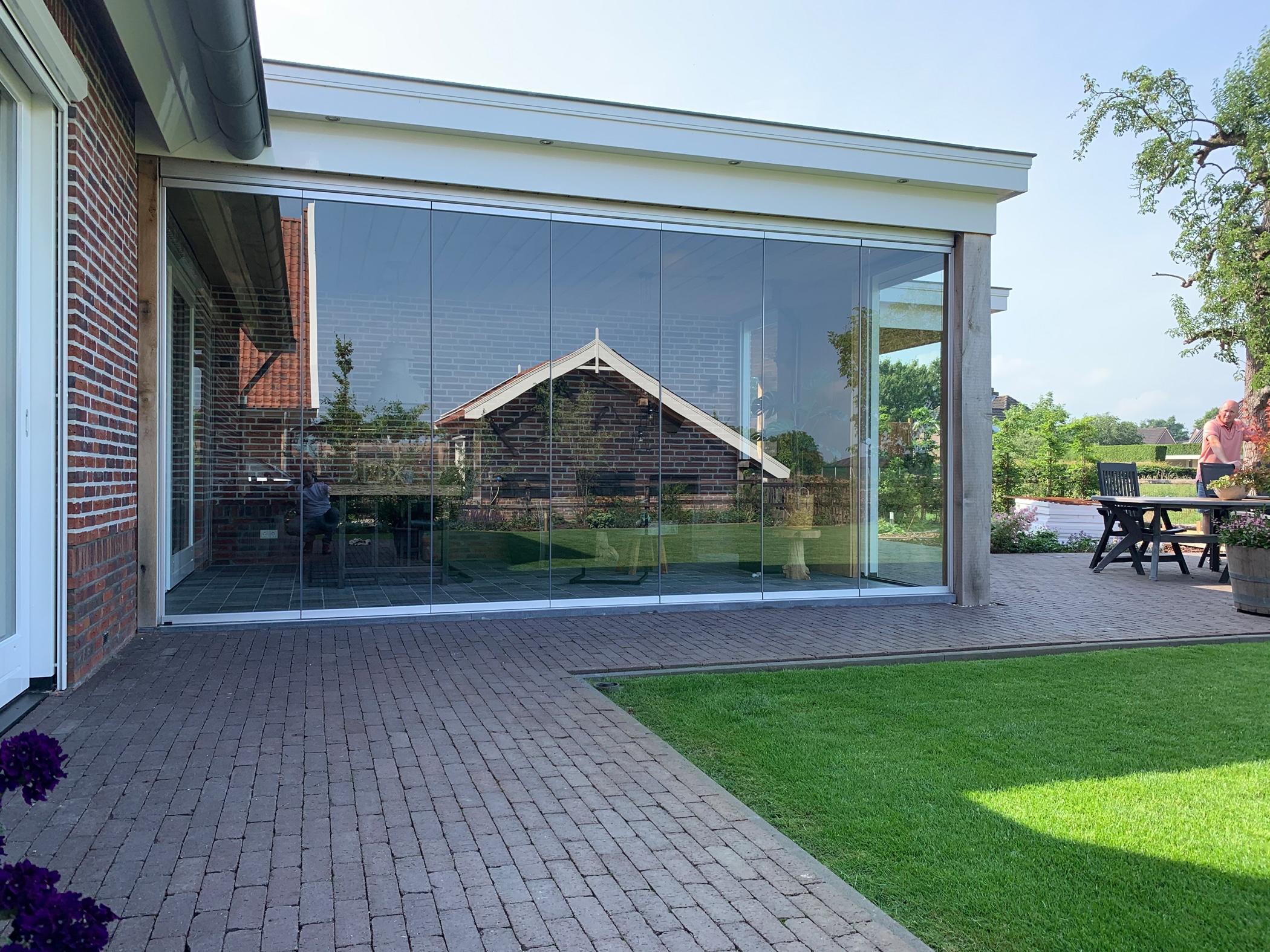 Einfache mobile Terrassenverglasung