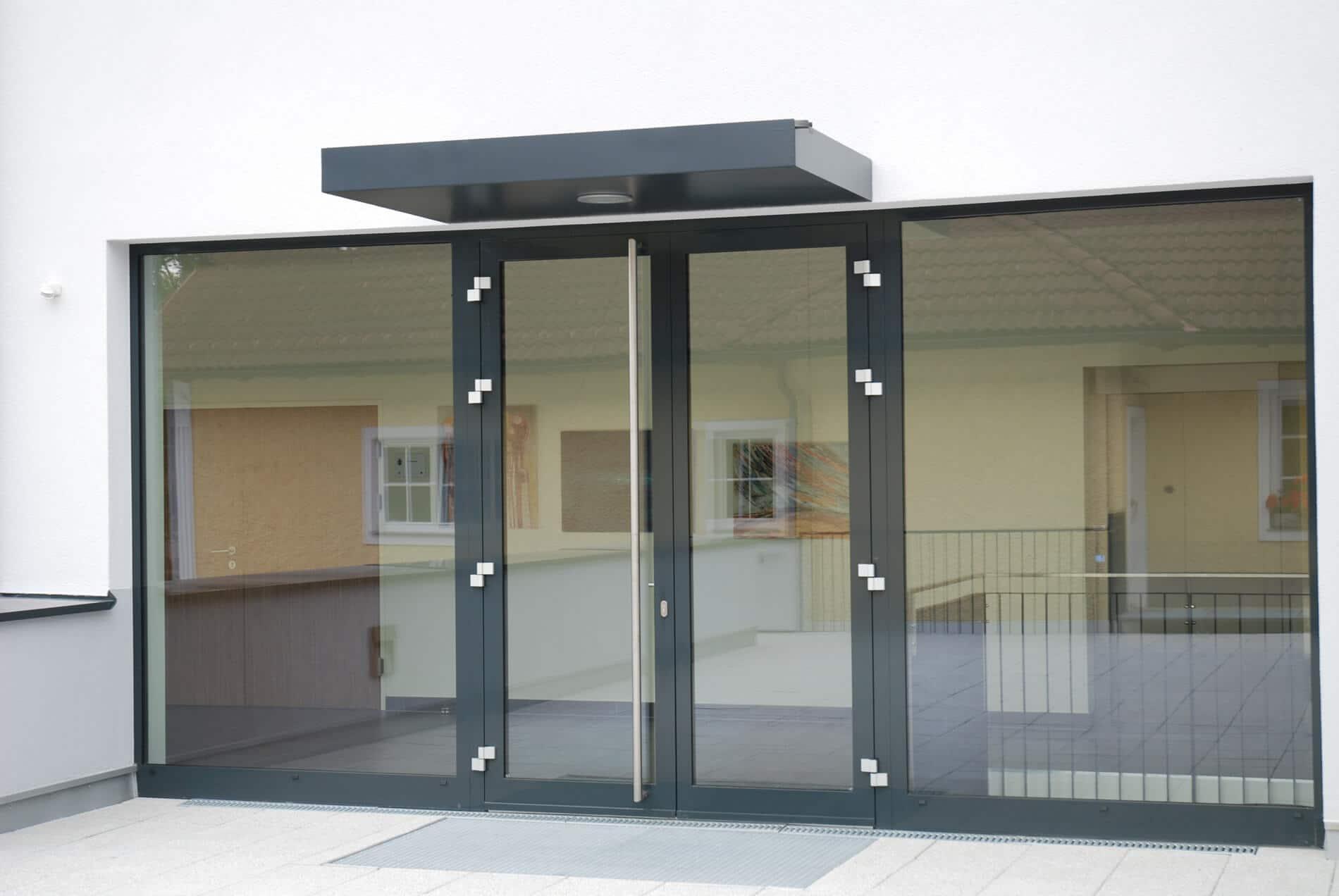 Favorit Eingangstür für Geschäft und Ladenlokale vom Alubauer | Ladentür + UF98