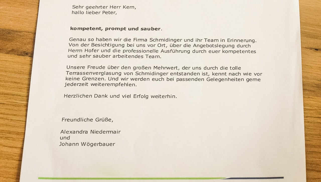 Erfahrung mit Schmidinger Wintergarten Fenster