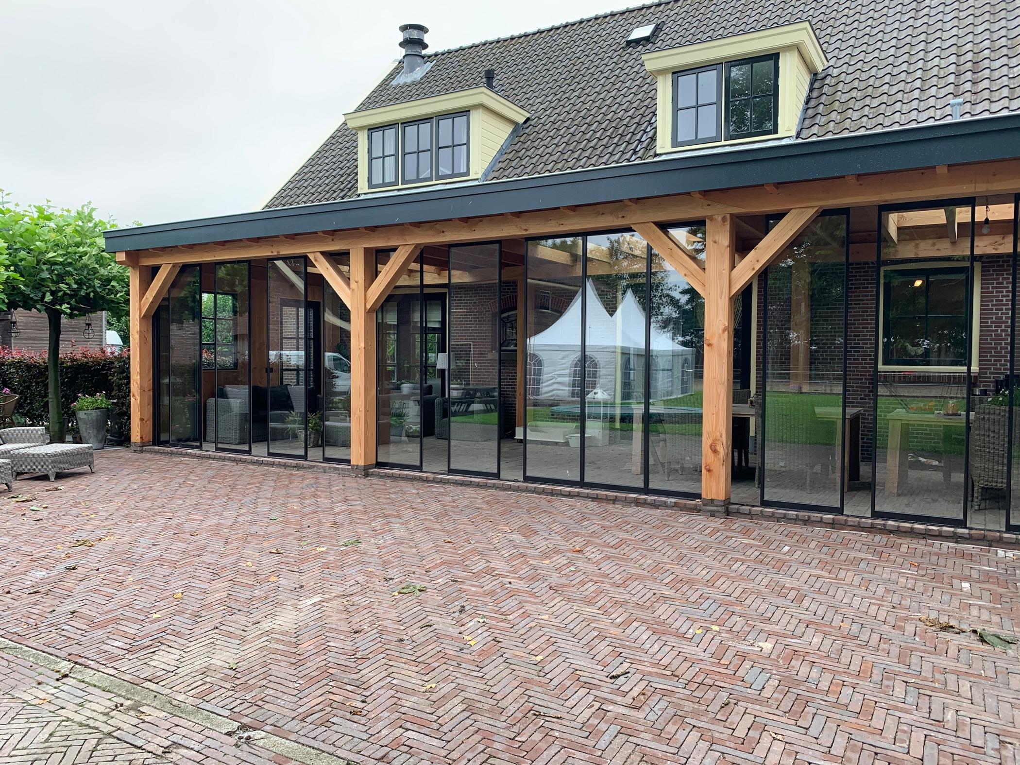 Falt-Schiebe-Konstruktion Terrasse Aluminium