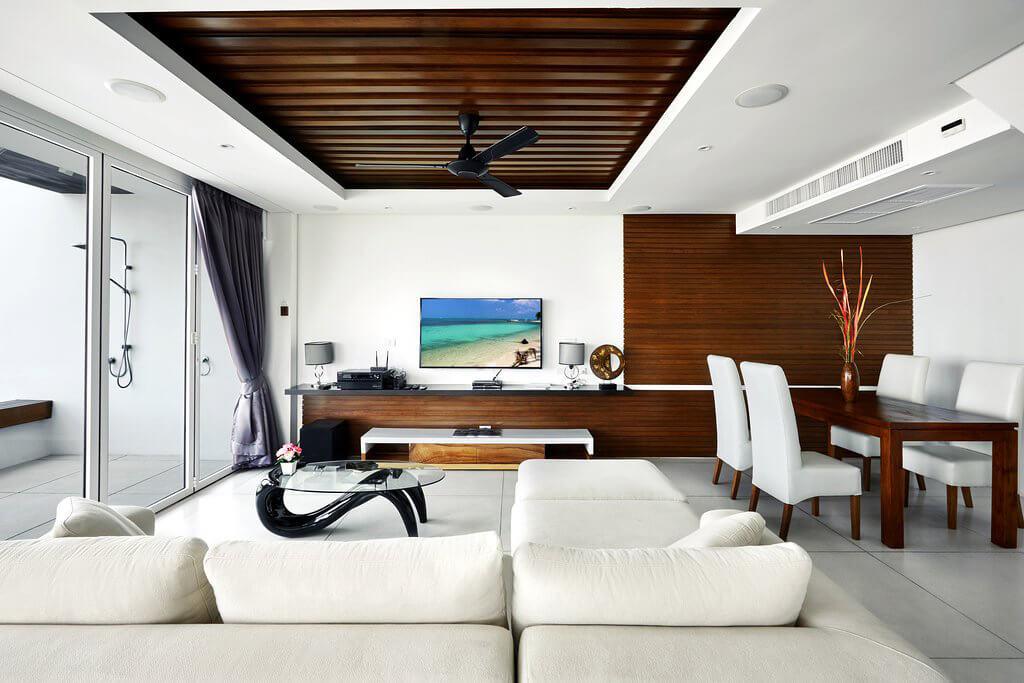 Falt-Schiebe-Türe Farbe weiß in Alu